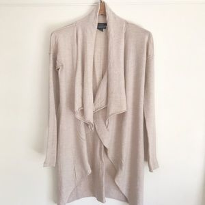 Tahari Drape Front Wool Duster